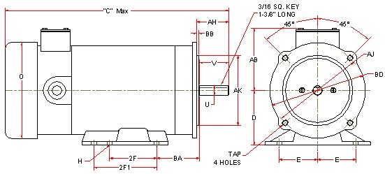 Dc Motor Dimension Frame Chart Printer Friendly Version