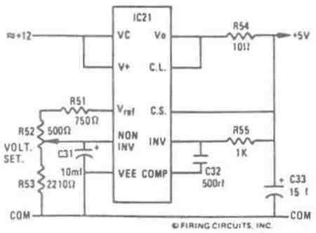 FIGURE 48. 1679/1681 DC MOTOR CONTROL. CONNECTION OF LOGIC CIRCUIT POWER SUPPLY REGULATOR