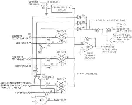 FIGURE 7. 1679/1681 DC MOTOR CONTROL. ELECTRONIC MODE SELECTOR SWITCHES