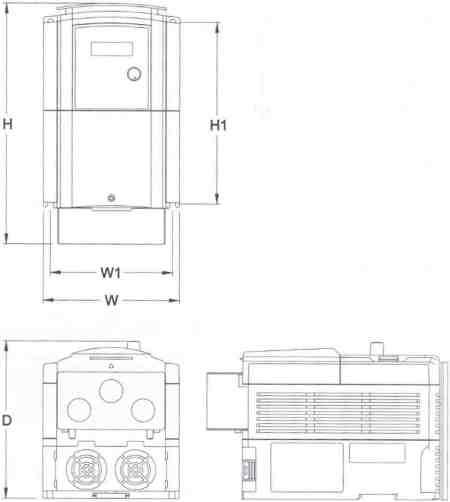 Dimensions Frame 3 Nema 1 Basic Wiring Diagram Elsavadorla
