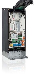 ACS880 drive with fieldbus adapters and feedback interface module