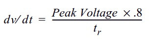 dV/dt rise time formula per IEEE